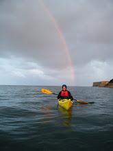 Photo: Aileen under the rainnbow