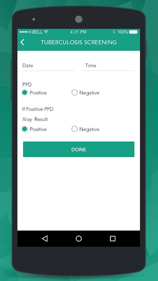 E-Health Care Tracker- screenshot