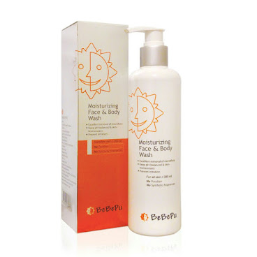 韓國制 BeBePu 強護保濕溫和潔膚水凝乳 (300ml)