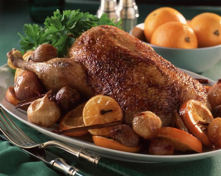 Port, Shallot and Orange Roasted Duck Recipe