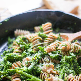 Farro Fusilli with Broccoli.