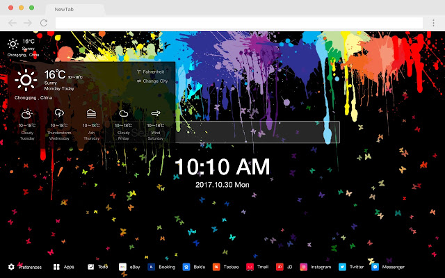 Painting New Tab Page HD Style Top Themes