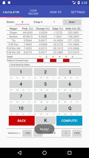 Baccarat Probability Calculator (Trial) 19 screenshots 1