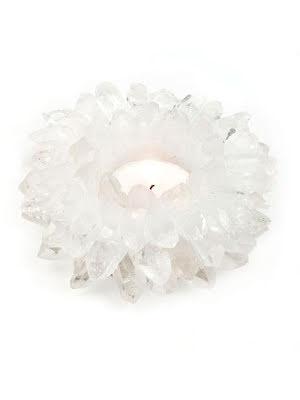 Ljuslykta, bergkristall, lotus