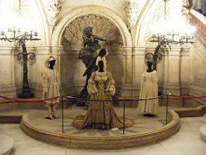 Photo: All the visits to Paris, and not once inside the Opera Garnier - until today. There are a number of exhibits of costumes used here.