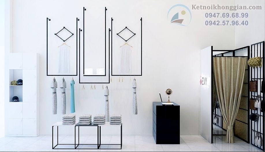 thiết kế shop thời trang công sở thoáng rộng