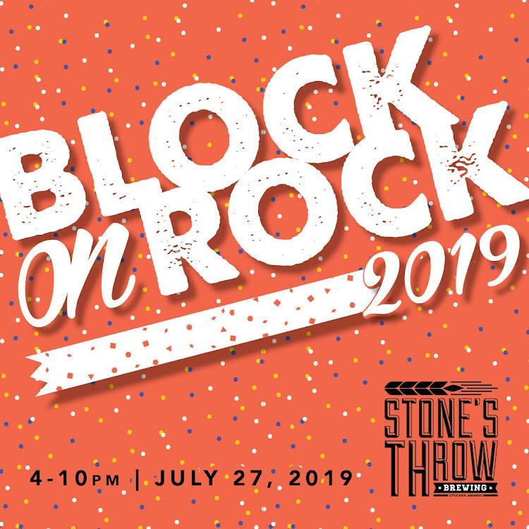 Logo of Stone's Throw Block on Rock Blonde