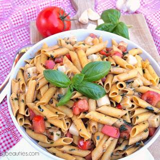 Gluten Free Caprese Pasta Salad.