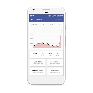 Bitcoin Tracker | Cryptocurrency live rate tracker - náhled