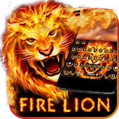 Red Hot Fire Lion Keyboard Theme