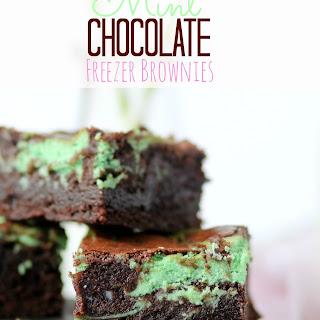 Mint Chocolate Freezer Brownies