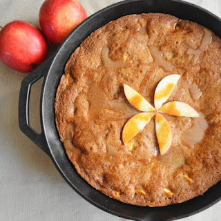 Caramel Apple Skillet Cookie