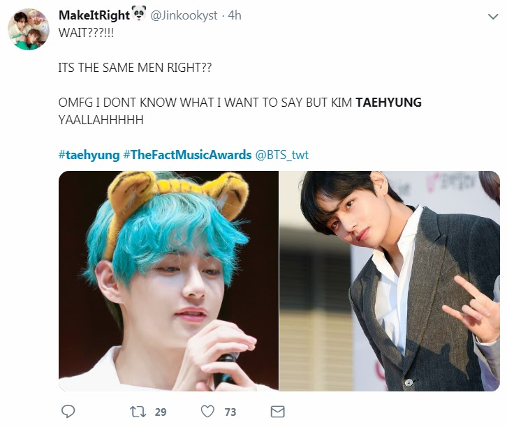 BTS's V Went Back To Black For The Fact Music Awards And