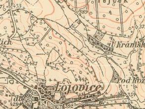 Photo: 3.vojenske mapovani 1869-1885. Kramsky temer jak je zname dnes. Povsimnete si aleje od Lojovic pri spodnim okraji, kterou ma PSO v umyslu obnovit. https://picasaweb.google.com/pokr.spol/BrigadaKramLojPratelstvi#