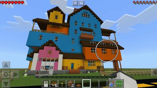 Maps Hello Scary Neighbor For Minecraft 1.2 screenshots 1