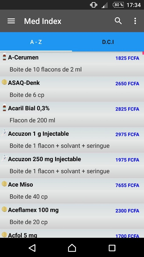 Med Index- screenshot