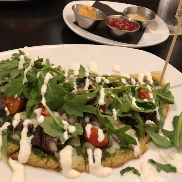 GF Pesto short rib flatbread