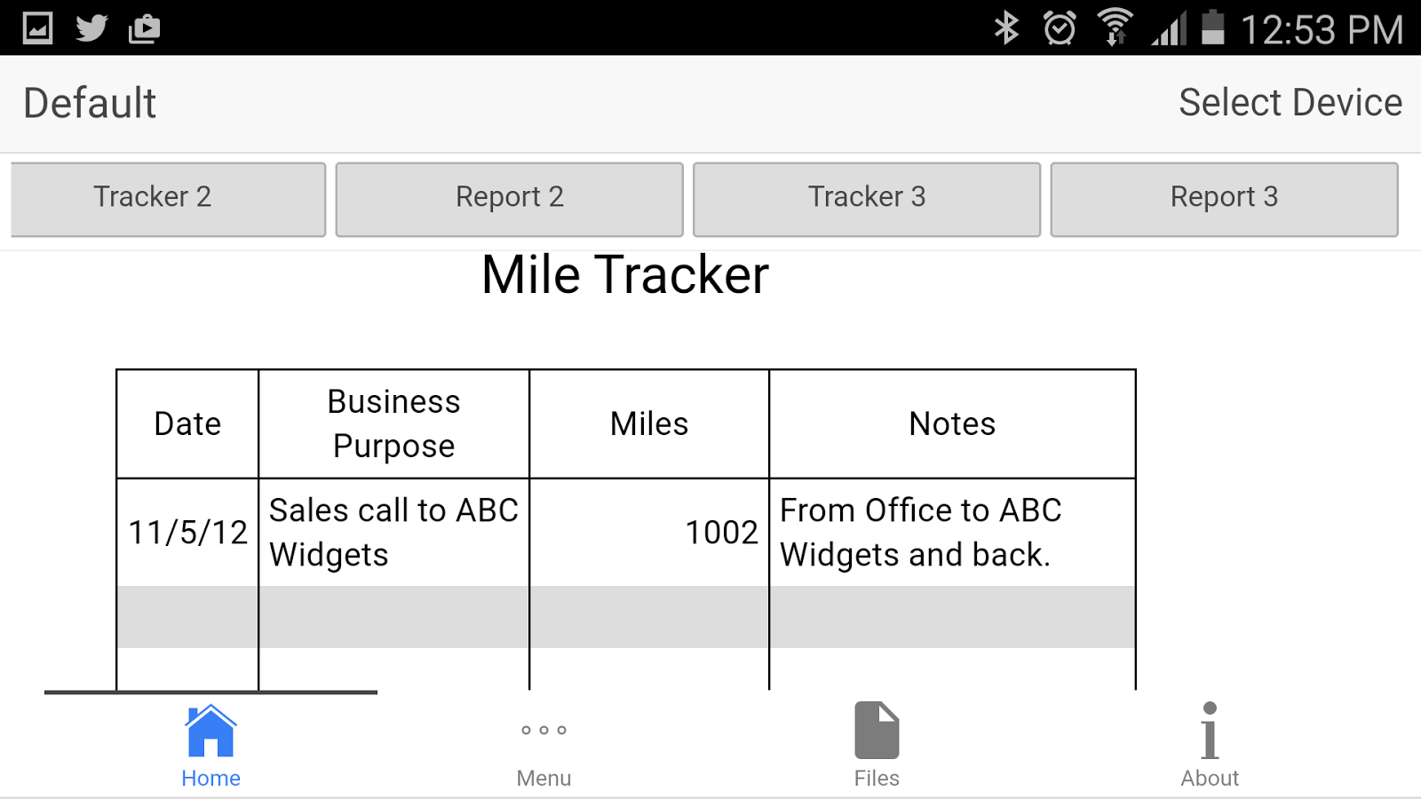 Mileage Tracker App Android
