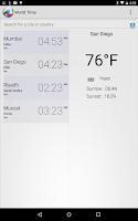 Screenshot of World Time