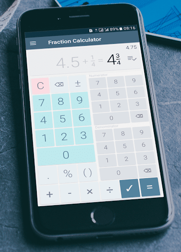 Fraction calculator: easy solve fractions problems 1.27 screenshots 3