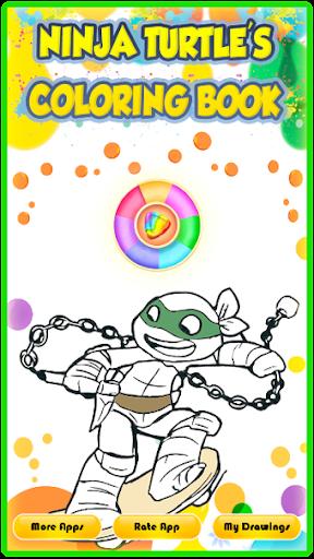 Ninja Hero Turtle Coloring Book apkmind screenshots 8
