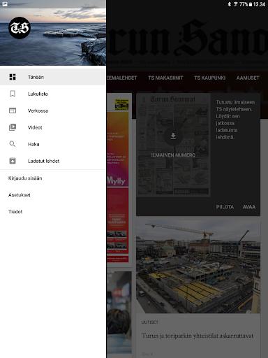 Turun Sanomat näköislehti screenshot 17