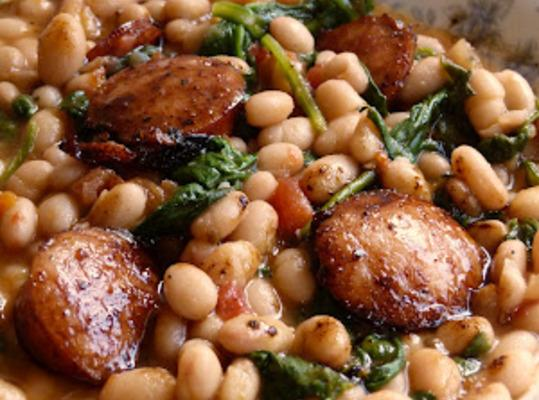 White Beans With Spinach & Sausage Recipe