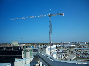 Photo: This shot was taken facing east from the fourth floor window watching the construction on The Heart Hospital at Baylor Regional Medical Center at Plano,Texas.