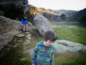 Photo: Clark and Finn in Laguna Canyon