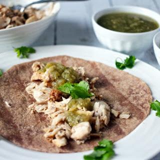 Mahi-mahi Fish Tacos With Salsa Verde.