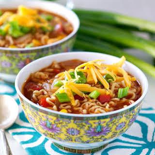 Barbecue Chicken Ramen Noodle Bowls.