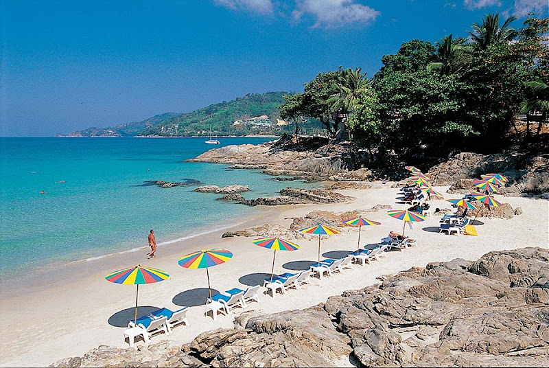 Patong Beach, Phuket, in southern Thailand.
