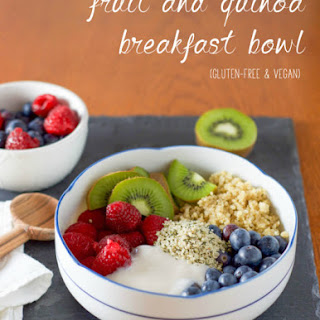 Fruit and Quinoa Breakfast Bowl.