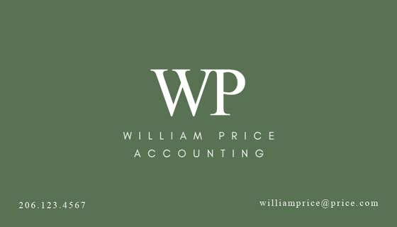 Price Accounting - Business Card Template