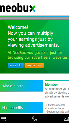 neobux 1.1.0 screenshots 1