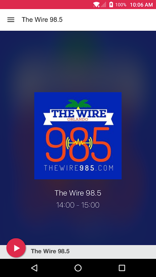 The Wire 98.5- screenshot