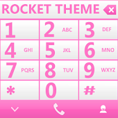 THEME PINK WHITE RocketDial