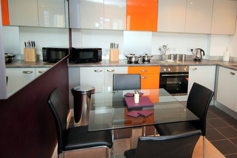 Fully equipped kitchen at City Quadrant