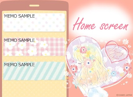 Simple Notepad Flowery Kiss- screenshot thumbnail