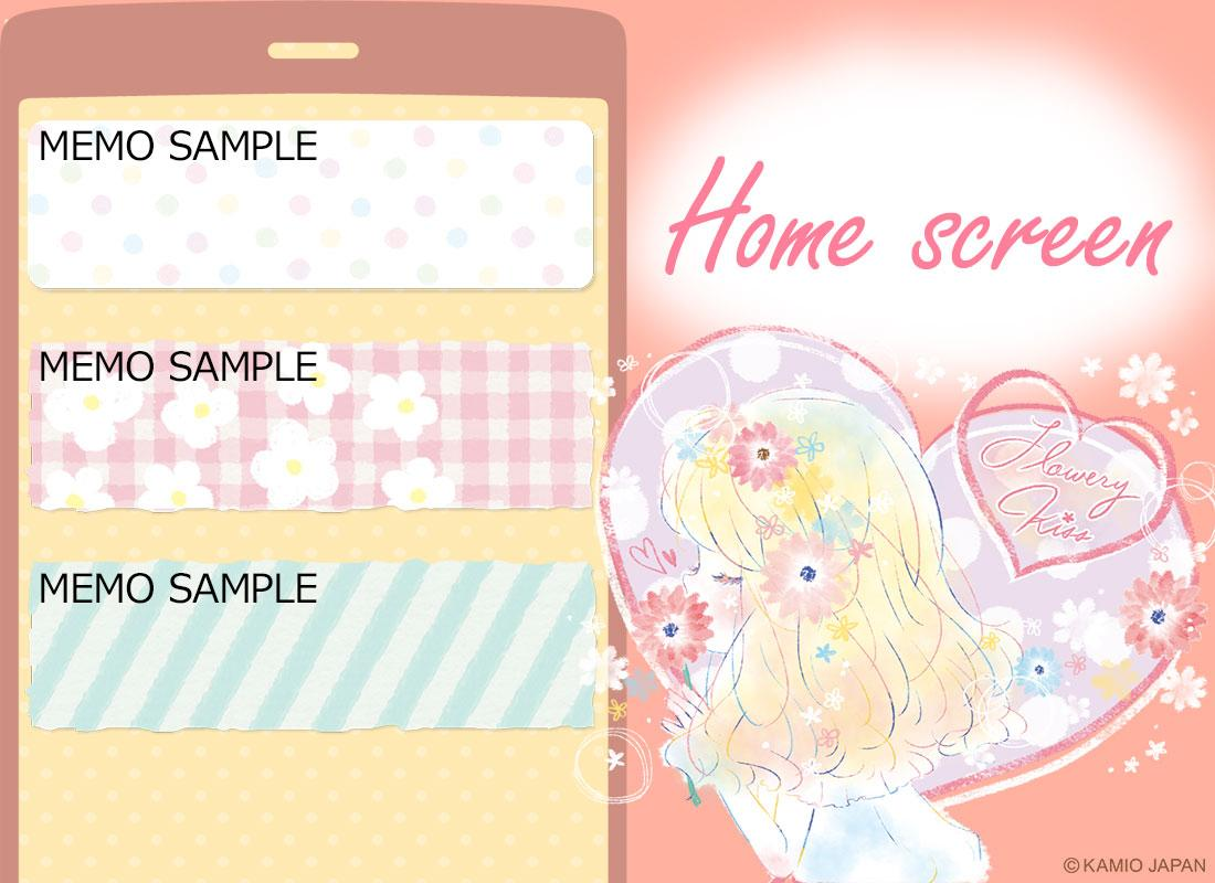 Simple Notepad Flowery Kiss- screenshot