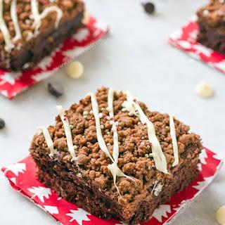 Mint Chocolate Brownie Crumb Cake
