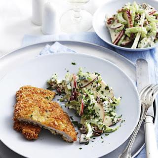 Pork Schnitzels with Waldorf Salad.