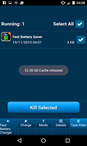 android Fast Battery Charger mAH Screenshot 2