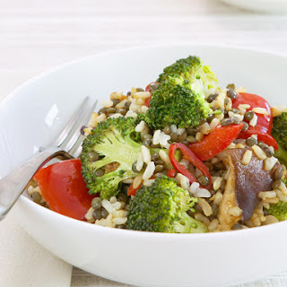 Lentils with Broccoli and Brown Rice.