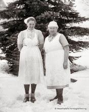 Photo: Mejeriet 1938. fr v, Mary Wesström, Sigrid Göransson mejerska
