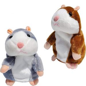 Jucarie interactiva - hamster vorbitor din plus