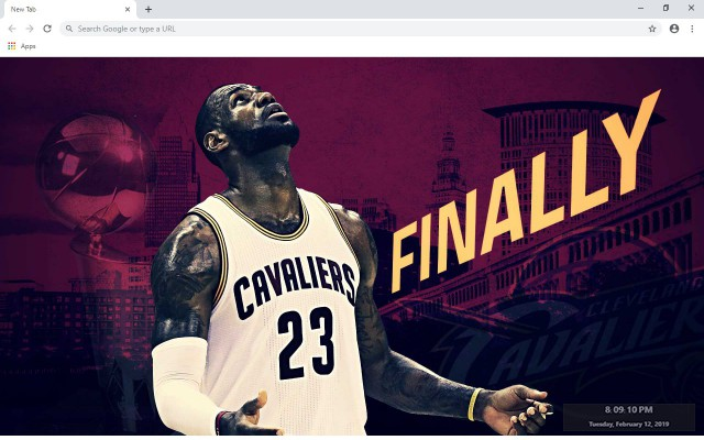 Cleveland Cavaliers NBA New Tab Theme