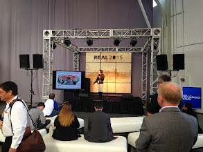Photo: Leica presenting at the small TechStageat #REAL2015 Main Hall