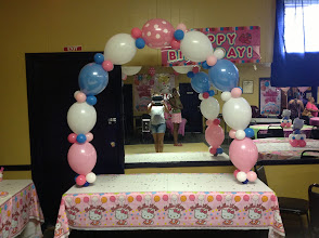 Photo: linked balloon arch for tabletop