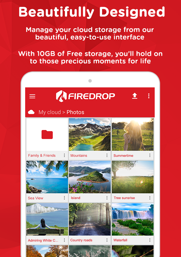 Firedrop - Cloud Storage- screenshot